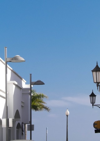 Streets of residental area, Arrecife, Lanzarote. Arrecife is popular touristic direction and capital city of Lanzarote Island. This is how local people live in Arrecife.