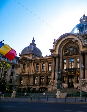 Architecture of old town, Bucharest. Architecture and travel concept.