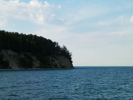 Orlowski Cliff above Baltic Sea. Polish nature, copy space. Travel and nature concept.