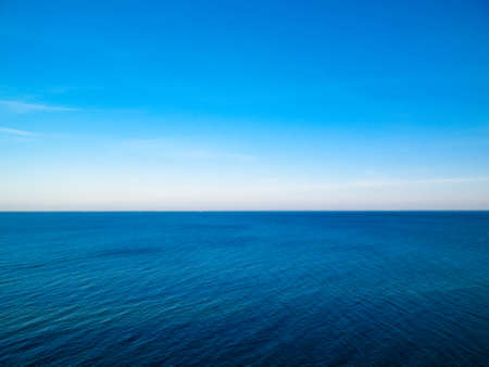 Beautiful Baltic Sea. Copy space on sky.