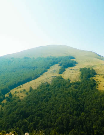 Mountains of Galicica National Park, Macedonia. Balkan nature and exploration concept.