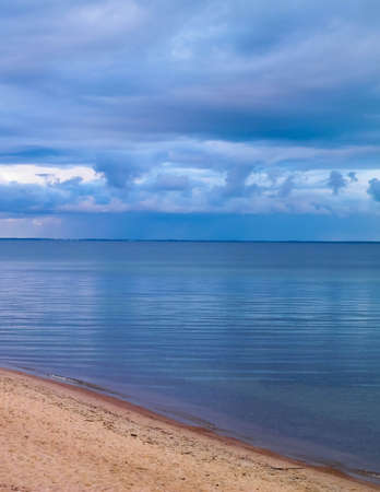 Beautiful Baltic Sea. Copy space on sky.