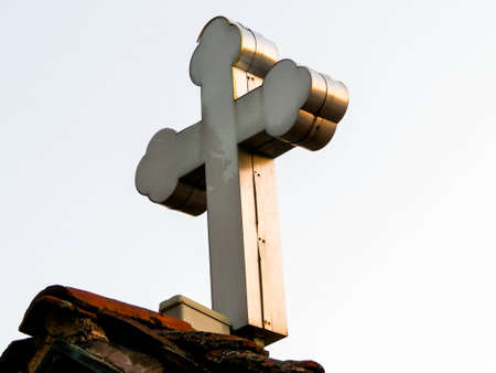 Christian cross, symbol of christianity. Religion concept. 版權商用圖片