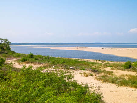 Baltic Sea Coast on Sobieszewska Island. The estuary of the Vistula River. Nature of northern Poland. 版權商用圖片 - 152035058