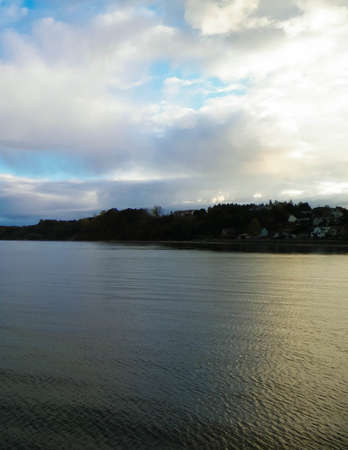 Baltic Sea coast of Mechelinki village. Mechelinki is small fishermans village in Northern Polland. 版權商用圖片