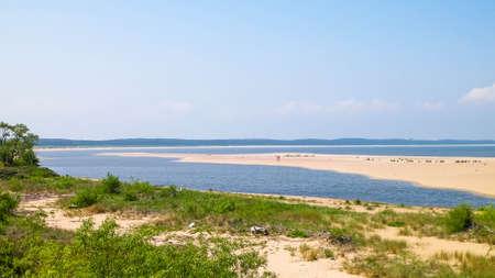 Baltic Sea Coast on Sobieszewska Island. The estuary of the Vistula River. Nature of northern Poland. 版權商用圖片 - 152484112