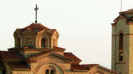 Orthodox church of st. Panteleimon. Architecture and religion concept. Ochrid City, Macedonia. 版權商用圖片 - 153404934