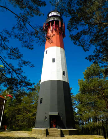 Lighthouse in Stilo, Poland. Travel and Architecture concept.