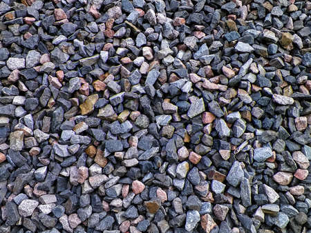Close up of small stones as nature background. Copy space.