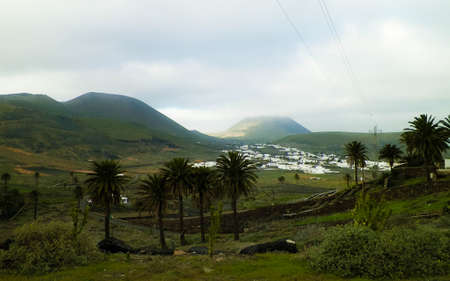 City of Haria and it's surrounding nature. Haria is city in north of Lanzarote island and is named as