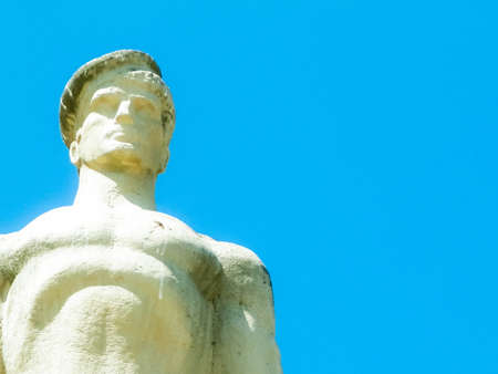 Monument of Romanian Sailors, Constanta Romania. Copy space, blue sky background.