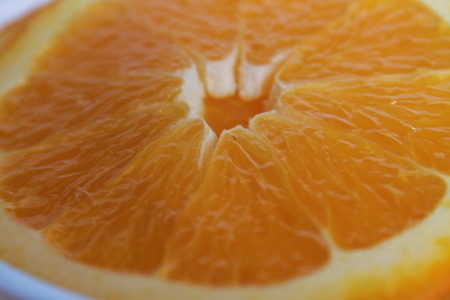 Macro of an orange for backgrounds. Stock Photo