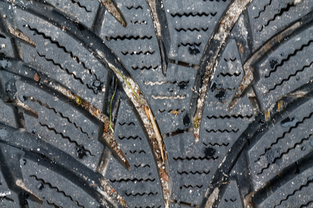 Car tire background, Tyre truck texture closeup Stock Photo