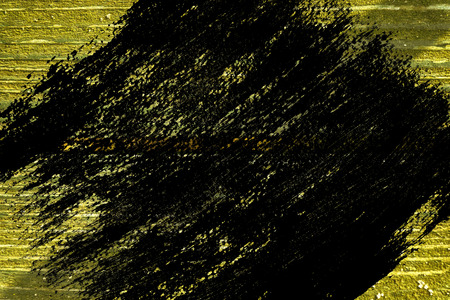 Ultra yellow grunge Wooden surface for design mock-up Cracked texture or dark background. Stock Photo