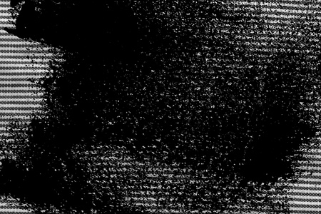 Grunge Black and white closeup of stripped fabric texture