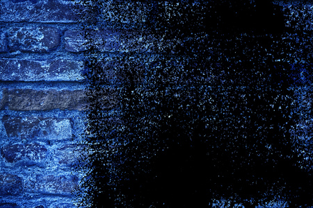 Grunge colored Ultra blue Brick wall texture, cement background for web site or mobile devices. Stock Photo