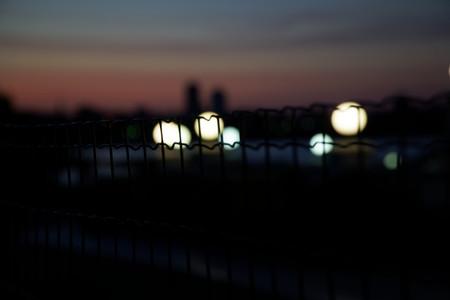 Streetlight halogen lamp, night illumination