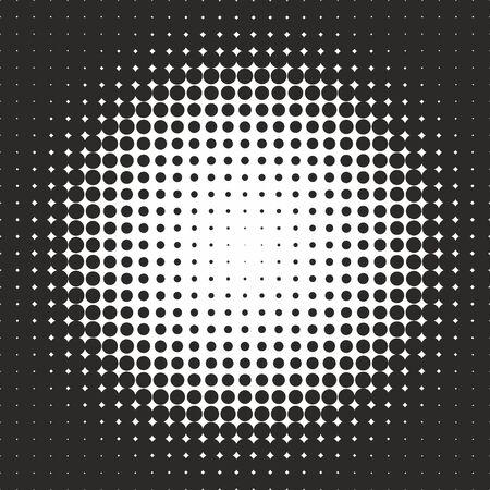 Halftone pattern background texture, round spot shapes, vintage or retro graphic, usable as decorative element. Illusztráció
