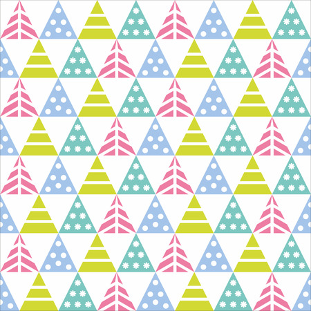 Vector seamless pattern with decorative Christmas trees on a white background. Great for Christmas and New year cards, flyers, posters, brochures, packages of gifts, banners.