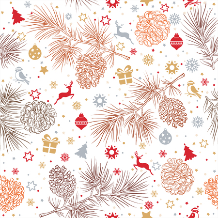 Merry Christmas and happy New Year pattern