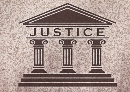 marmol: Icon of justice over a marmol textured Stock Photo