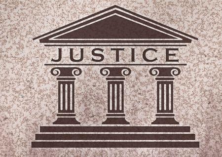 giustizia: Icona della giustizia su un marmol testurizzati