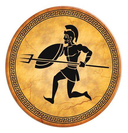 illustrious: greek ceramic Stock Photo
