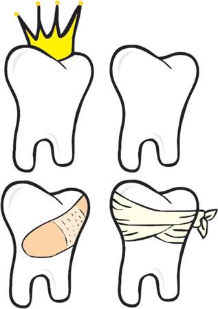 mouth pain: Teeth set