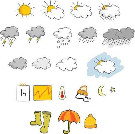 iconos del clima: Tiempo iconos conjunto