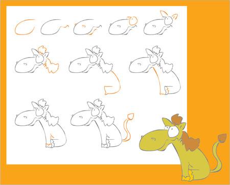 donkey tail: C�mo dibujar un poco loco caballo