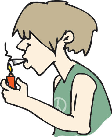 smokers: Smoking dude Illustration