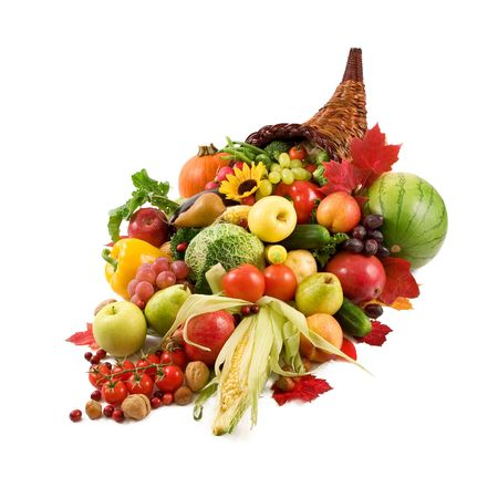 apples basket: Autumn Cornucopia