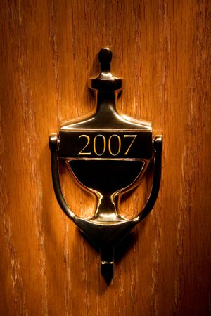 Door leading to a new year (2007) Stock Photo - 647918