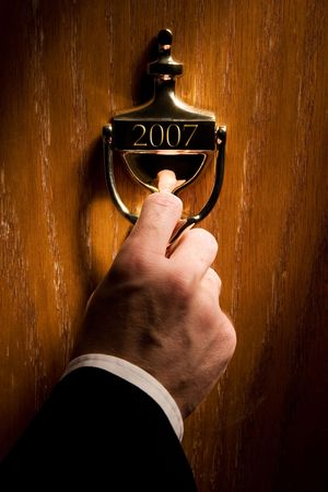 new entry: Door leading to a new year (2007) Stock Photo