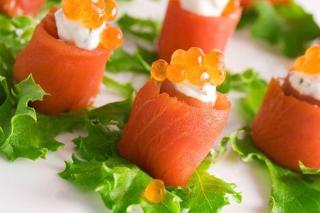 Salmon rolls Stock fotó - 690217