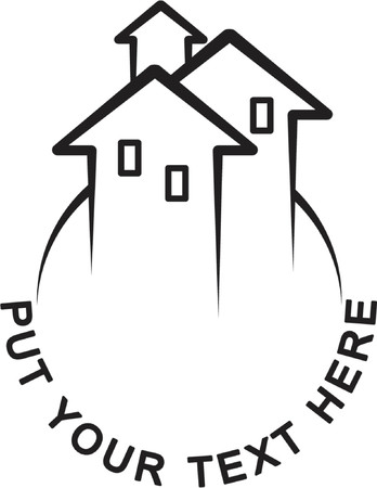 Houses (Logo symbolizes growing real estate market)