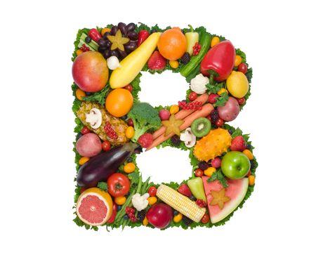 fruta tropical: Alfabeto de Salud - B  Foto de archivo