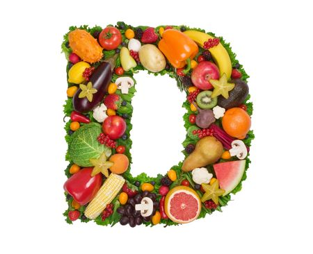 Alfabet van Gezondheid - D Stockfoto