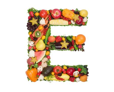 fruta tropical: Alfabeto de la Salud - E  Foto de archivo