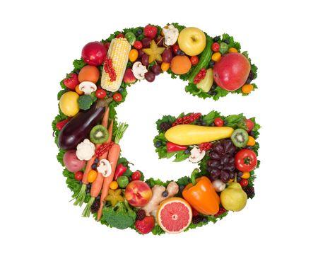 fruta tropical: Alfabeto de Salud - G  Foto de archivo