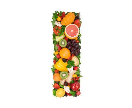 fruta tropical: Alfabeto de la salud - I Foto de archivo