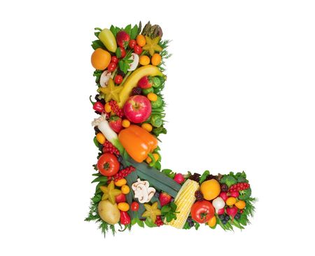 fruit: Alphabet of Health - L Stock Photo