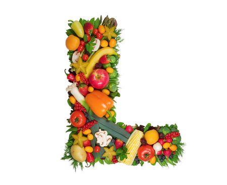 Alphabet of Health - L Stock fotó