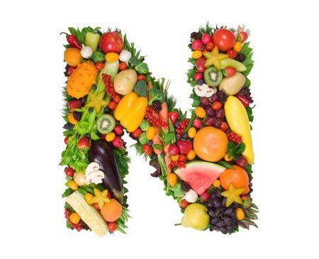 fruta tropical: Alfabeto de la salud - N