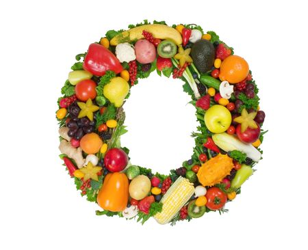 Alphabet of Health - O Stock Photo