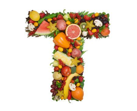 Alphabet de la santé - T Banque d'images - 818774