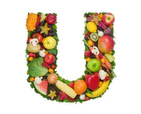 fruta tropical: Alfabeto de la Salud - U