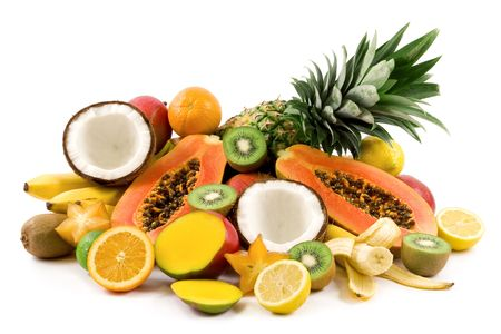 Tropical fruits photo