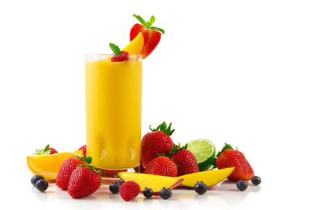 slush: Mango smoothie Stock Photo