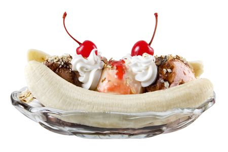 ice cream glass: Banana split